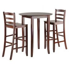 Fiona 3pc High Round Table With Ladder Back Stool Antique ...