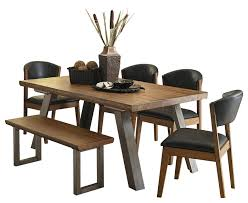 Homelegance Hobson 6PC Dining Set Table, 4 Chair, Bench In Rustic Wood Grain Mhattan Comfort Maiden Collection Reclaimed Traditional Modern 5 Piece Pine Wood Ding Set 4 Chairs And 1 Table Woodyellow Solid Chair Natural Color Blob Wooden Ding Chair Reclaimed Wood Fniture Oak Cheap Rattan X Cross Back Buy Chrreclaimed Chairsfrench Bistro Magnificent And Metal Room Street Sl2090rw Vertical Back Reclaimed Wood Seat Black The Gray Barn Pivi At Dutchcrafters 42 Of 2 Neem Chestnut Finish Hand Turned Legs Paloma Rectangular With Rolled Grey Cotton By Inspire Q Artisan Unique Tables Decor Large Fniture All