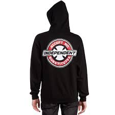 100 Independent Trucks Hoodie X CCS Accept No Substitutes Pullover Black