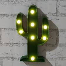 Christmas Tree 7ft Amazon by Amazon Com Plastic Tropical Cactus Marquee Led Lamp Light Novelty