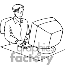 Work Black And White Clipart