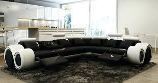 canapé noir et blanc fauteuil d angle en cuir deco in canape d angle cuir noir et