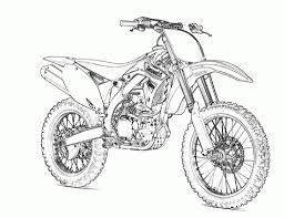 Download Coloring Pages Motorcycle Dirt Bike Motocross Coloringstar For Kids