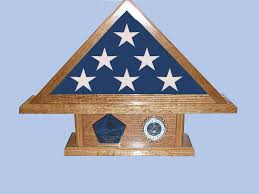 Small Triangle Flag Display Case On Pedestal