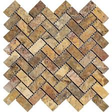 Valencia Scabos Travertine Tile by Tumbled Tilephile