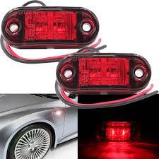 100 Lights For Trucks Details About 2x Car Truck Piranha LED Side Sign Light Trailer Blinker Lamp Bulb Red