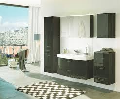badmöbel set florida mit waschtisch 6 teilig 180 cm breit hochglanz grau