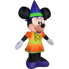 gemmy airblown inflatable 5 5 x 3 5 minnie mouse witch halloween