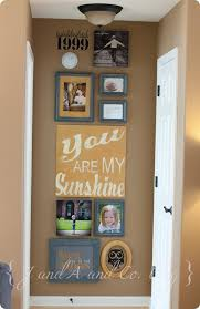 Super Creative Way To Dress Up The End Of A Hallway Or Random Skinny Wall In Home Love It For Between Powder Room And Office Our