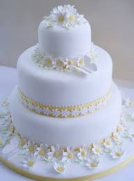 A Beautiful Spring Wedding Cake Design Daisy Chains Butterflies By Laura May Company