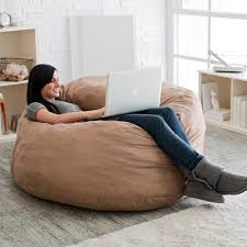 King Fuf Bean Bag Chair by Fuf 4 Ft Micro Suede Bean Bag Sofa Hayneedle