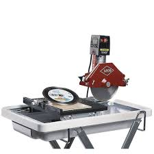 mk diamond mk 370 sc 1 1 4 hp 7 tile saw with blade and stand