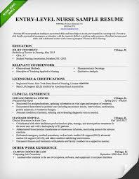 Entry Level Nursing Resume Samples