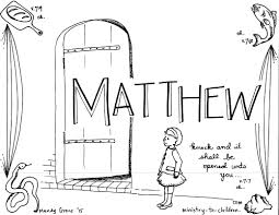 Matthew Bible Book Coloring Page Throughout Books Of The Pages