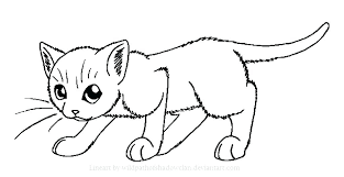 Cat Coloring Page Of The Elegant Cute