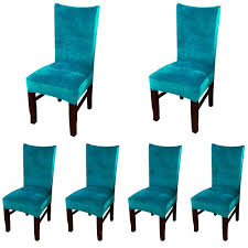 Amazon.com: Smiry Velvet Stretch Dining Room Chair Covers Soft ... Buy Chair Covers Slipcovers Online At Overstock Our Best Parsons Chair Slipcover Tutorial How To Make A Parsons Elegant Slipcover For Ding Room Chairs Stylish Look Homesfeed How Fun Are These Slipcovers From Pier 1 20 Awesome Scheme Ready Made Seat Table Rated In Helpful Customer Reviews With Arms 2081151349 Musicments Transformation Without Sewing Machine Build Basic Decorating Gorgeous Shabby Chic For Lovely Fniture