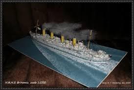 class ocean liner hmhs britannic free ship paper model download