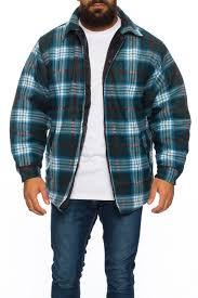mens sherpa fleece hooded lumberjack check flannel fleece work