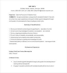 Tutor Resume Example Sample Templates Nursing