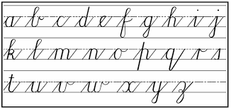 How to write Cursive step by step