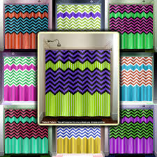 Green Striped Curtain Panels lime green stripe purple zig zag chevron shower curtain