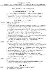 resume for a software sales engineer susan ireland resumes