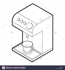 Coffee Machine Icon Outline Style