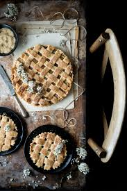 Rustic Pie On Wooden Table Food Styling
