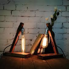 american loft vintage industrial wood table light edison desk l