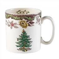 Spode Christmas Tree Mug Cafe Shape by Holiday Entertaining Christmas Dishes Tabletop Kitchen Accessories