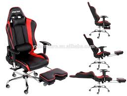 cing chair with footrest merax racing style executive pu leather
