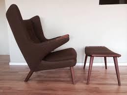 Authentic Hans Wegner Papa Bear Chair by Original Hans Wegner Papa Bear Chair And Ottoman For Sale At 1stdibs