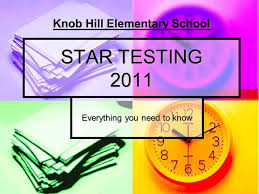 STAR TESTING 2011 Everything you need to know Knob Hill Elementary