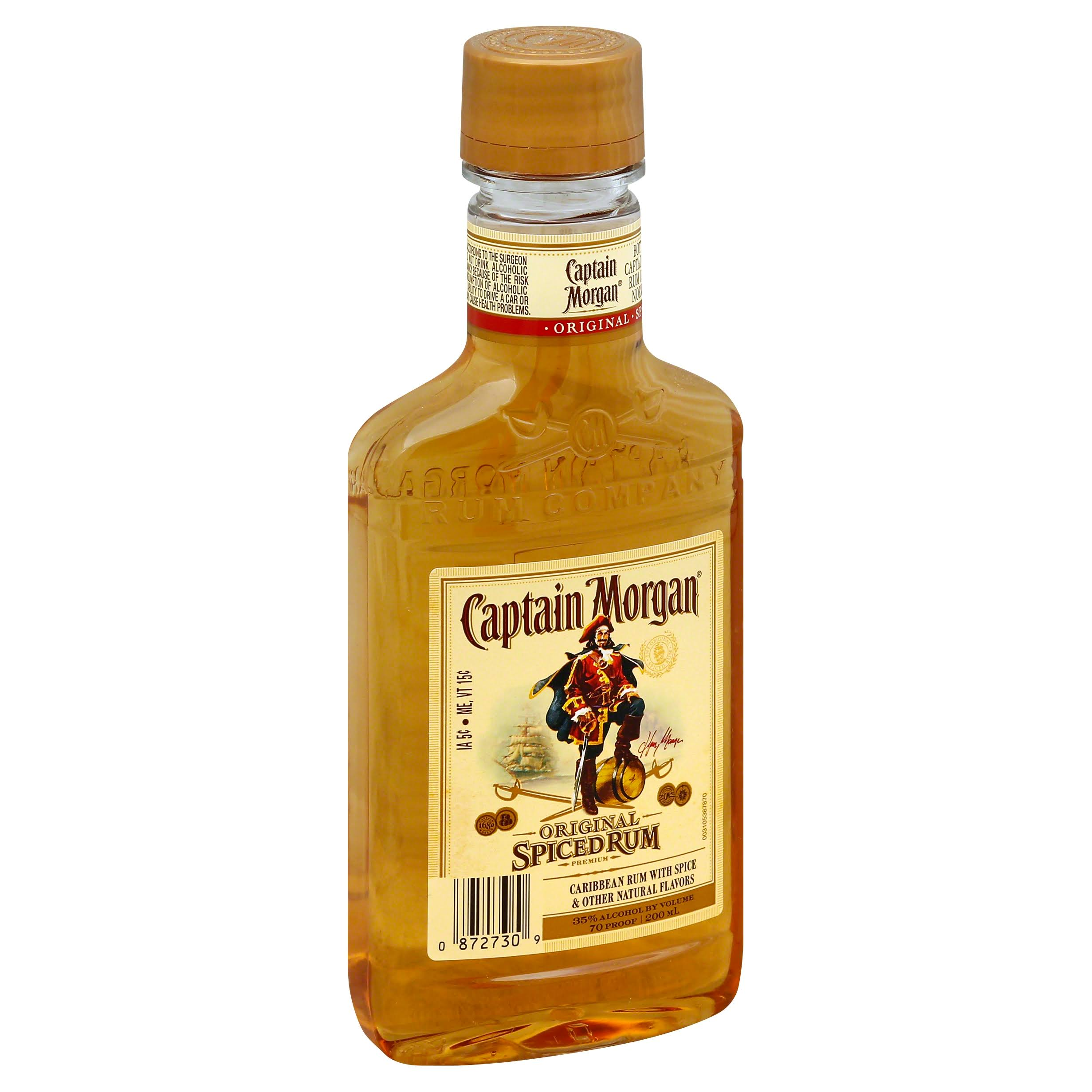 Captain Morgan Rum, Spiced, Original - 200 ml