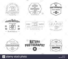 Photography Badges And Labels In Vintage Style Simple Line Design Retro Theme For Photo Studio Photographer Equipment Store Signs Logos Insignias