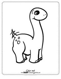 Free Coloring Page Cute Baby Dinosaur Would Be To Let Guest Color Dino And Parents Pick A Winner
