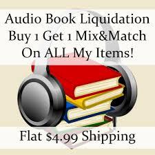 New Audio Book Liquidation Sale Authors K M 7 Buy 1 Get Flat Ship