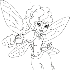 Coloring Page For Bumblebee Below Is Bigger But Its In Half Body