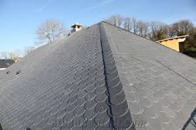cheap prices for black slate roofing tiles with half shape