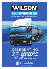100 Wilson Trucking Company Bulk Transport October 2015 By Ashburton Guardian Issuu