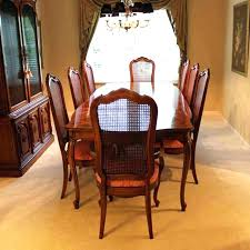 Thomasville Furniture Dining Room Chairs Set With Cane Back Leather Prices