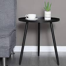 beistelltisch aus metall für wohnzimmer runder beistelltisch large schwarz