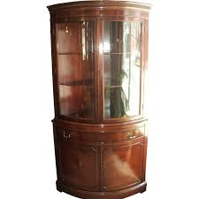 Curved Glass Curio Cabinet by Mahogany Curved Glass China Cabinet Circa 1940 U0027s From