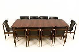 Furniture Mid Century Modern Large Extendable Dining Table From Fristho Round Glass Pedestal Smart Room