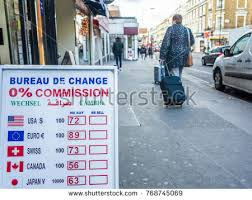 exchange bureau de change november 2017 currency exchange bureau stock photo