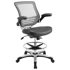 Tall Office Chairs Amazon by Amazon Com Modway Edge Drafting Chair In Gray Vinyl Reception