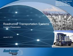 Form FWP Roadrunner Transportatio Filed By: Roadrunner ... Ltl Provider Roadrunner Freight Talks About Logistics Technology Rrts Stock Price Transportation Systems Inc Form Fwp Transportatio Filed By Trucking Industry Gets Back On Track As Prices Recover Exporters Anxious On Trade A Trucker And Factory Home Echo Global Domingo At Roadrunner Transport Lamborghini Youtube Twitter Our A Shipment Shares Tumble Steep Profit Decline Wsj