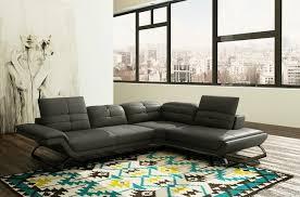 canape d angle gris anthracite canapé d angle en cuir prestige luxe italien 5 places moderni