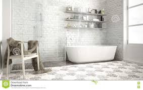 skandinavisches badezimmer klassisches weißes