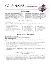 Interior Design Resume Objective